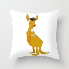 College Kangaroo Throw Pillow