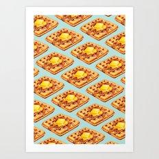 Waffle Pattern Art Print
