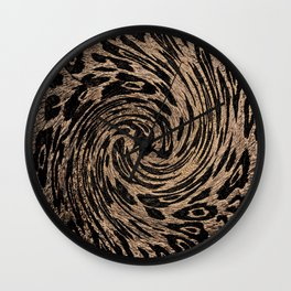 Animal Magnetism Black and  Brown 2 Wall Clock
