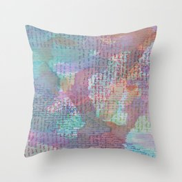 Words and Water Paint 2 Throw Pillow