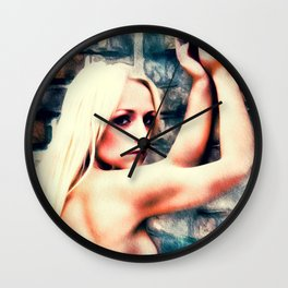 Self Portrait by Mary Bassett Wall Clock