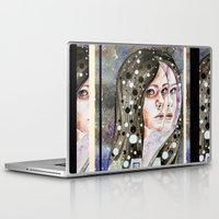 nightmare Laptop & iPad Skins featuring Nightmare by Veronika Weroni Vajdová