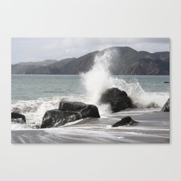 Splashed Canvas Print