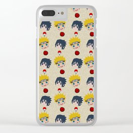 Face Characters Clear iPhone Case