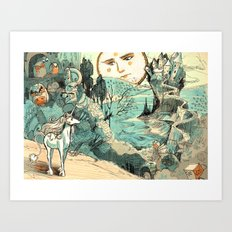 Last Unicorn Journey Art Print