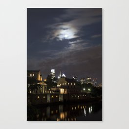 Philly in the Moonlight Canvas Print