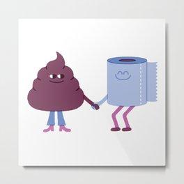 SBF: Poop & Toilet Paper Metal Print