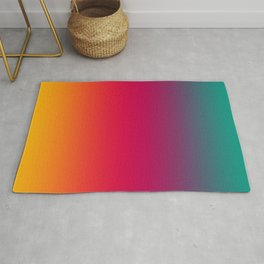 Poseidon - Classic Colorful Warm Abstract Minimal Retro Style Color Gradient Rug