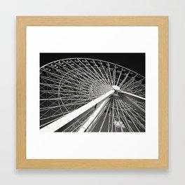 Navy Pier's Ferris Wheel Framed Art Print