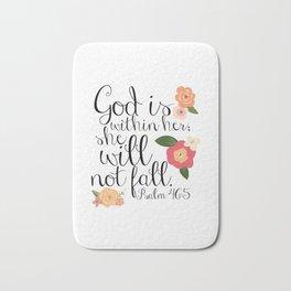 She Will Not Fall Bath Mat