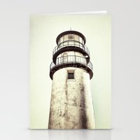 cape cod Stationery Cards featuring cape cod lighthouse by marie grady palcic