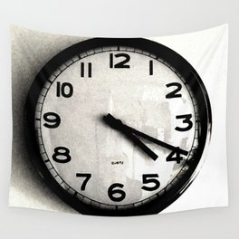 Four Nineteen Clock Wall Tapestry