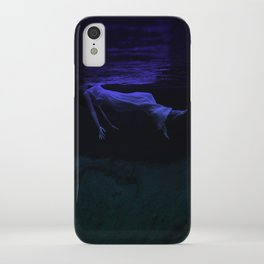 Rising To The Top : Deep Blue Water Photograph iPhone Case