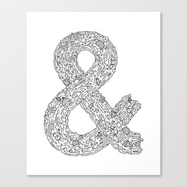 Everything & Nothing (White) Canvas Print