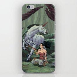 Asha and the Unicorn iPhone Skin
