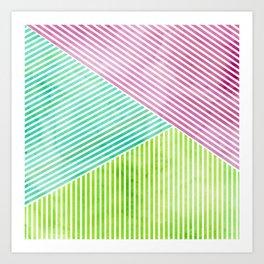 Geometric Color Study II Art Print