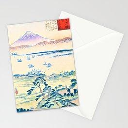 Kobayashi Kiyochika - Sketches of the Famous Sights of Japan - View of Fuji from the Coast of Kiyomigata - Digital Remaste Edition Stationery Cards