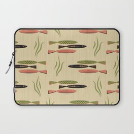 Mid Century Modern Fish Laptop Sleeve