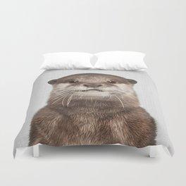 Otter - Colorful Duvet Cover
