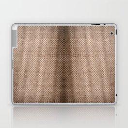 Beige burlap cloth texture abstract Laptop & iPad Skin