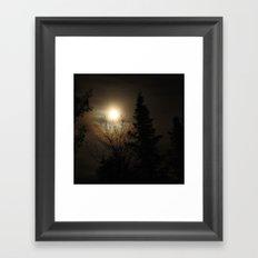 Moon Halo Framed Art Print