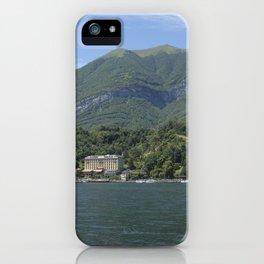 View of Tremezzo and Villa Carlotta on Lake Como, Italy iPhone Case