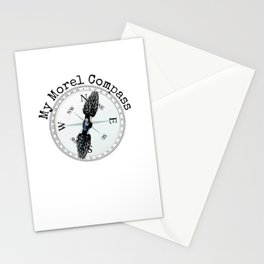 Morel Compass Mushroom Humor for Mycologists Stationery Cards