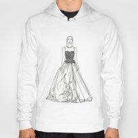 fashion illustration Hoodies featuring Fashion Illustration by VAWART