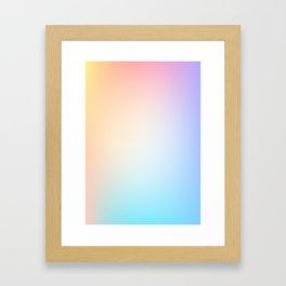 EUPHORIA / Plain Soft Mood Color Tones Framed Art Print
