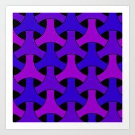 Geometric Design 2 (Purple) Art Print