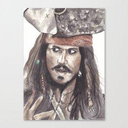 Black Pearl's Capt. Jack Sparrow Canvas Print