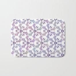 Art Nouveau Poppy Pattern Bath Mat