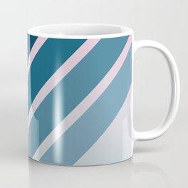 Classic Retro Stripes on Pink Blue Color Gradient Coffee Mug