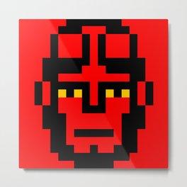 Boy from the Hell minimal pixel art Metal Print