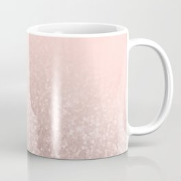 Rose Gold Sparkles on Pretty Blush Pink VI Coffee Mug