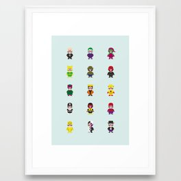 Really Super Warios Framed Art Print