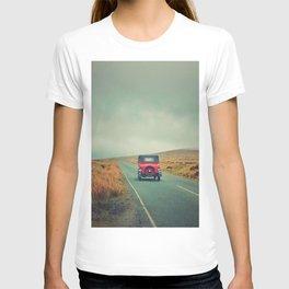 Vintage red car, Ireland T-shirt