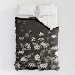 Invaded BLACK Comforters