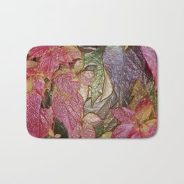 Glossy autumn leaves Bath Mat
