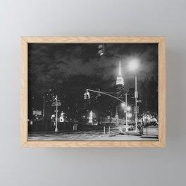 New York City Nights Framed Mini Art Print