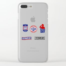 National Veterans Day Clear iPhone Case