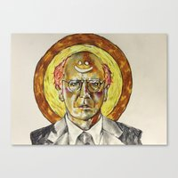 larry david Canvas Prints featuring Larry David by Carson Kaiser