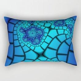Beveled Blues Rectangular Pillow