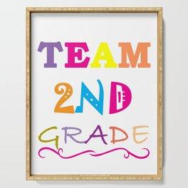 Team 2nd Grade Teacher First Day design Serving Tray