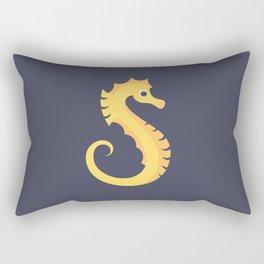 Letter S // Animal Alphabet // Seahorse Monogram Rectangular Pillow
