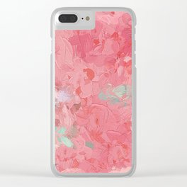Painted Roses Clear iPhone Case