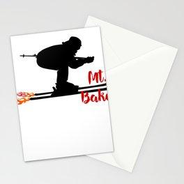 Ski speeding at Mt. Baker Stationery Cards