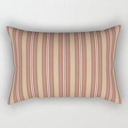 Cavern Clay SW 7701 and Accent Colors Thick and Thin Vertical Lines Bold Stripes 1 Rectangular Pillow