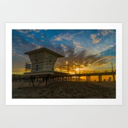 Tower 2 Sunrise Art Print