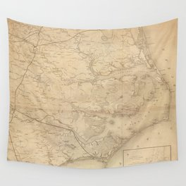 Vintage Map of Eastern North Carolina (1862) Wall Tapestry